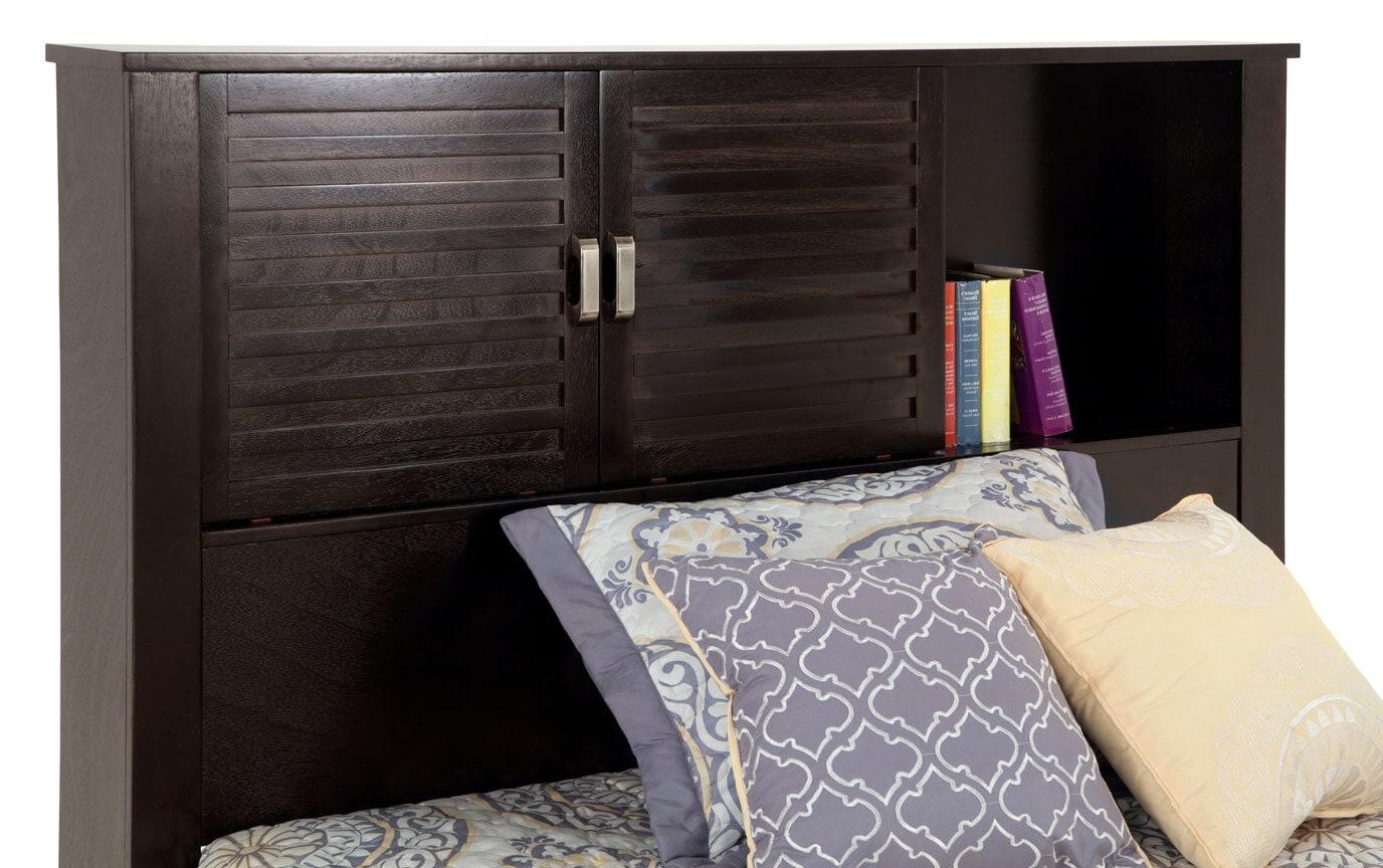 Dalton Full Espresso Storage Bed