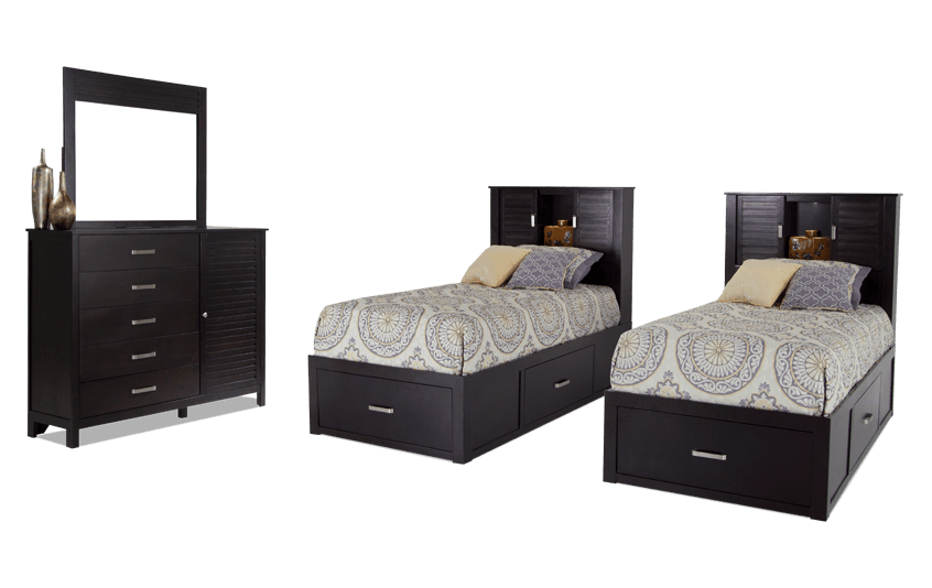 Dalton Twin Espresso Storage Bedroom Set
