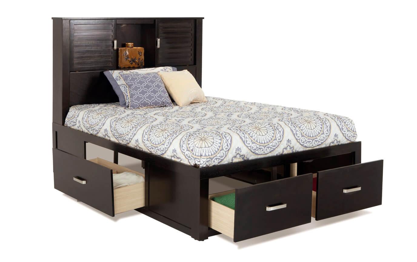 Dalton Full Espresso Storage Bedroom Set