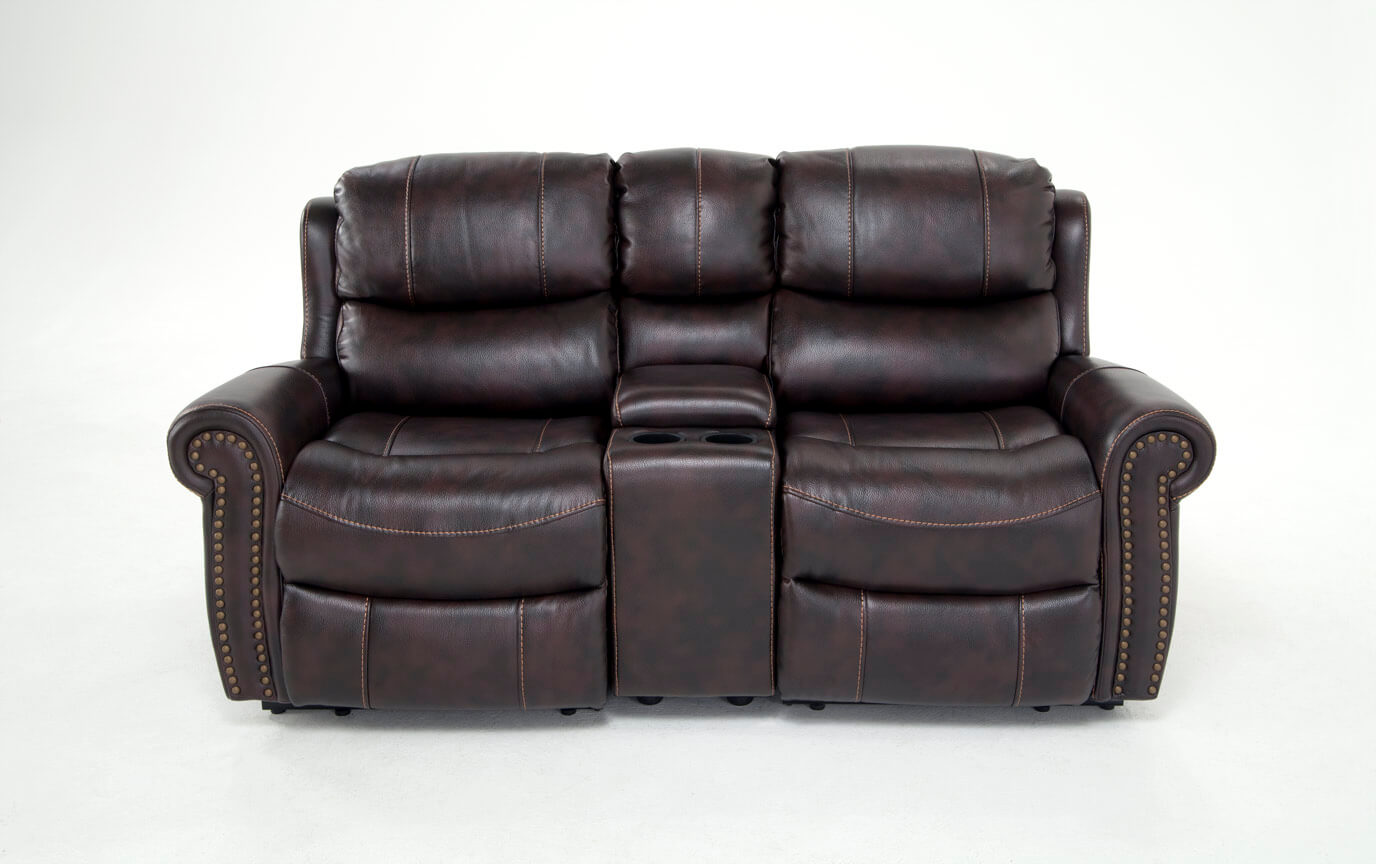 Lannister Power Reclining Console Loveseat Bobs Com