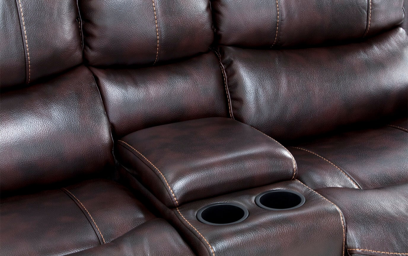 Lannister Power Reclining Console Loveseat