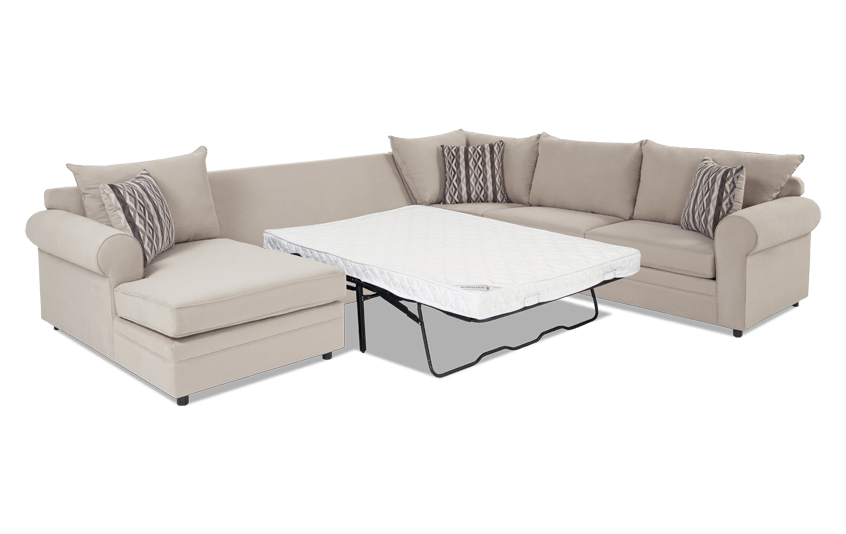 Venus 4 Piece Right Arm Facing Innerspring Full Sleeper Sectional