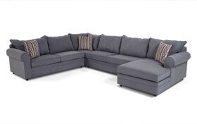 Venus Blue 4 Piece Left Arm Facing Sectional