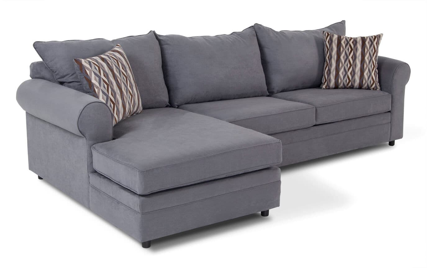 Venus Blue 2 Piece Right Arm Facing Sectional