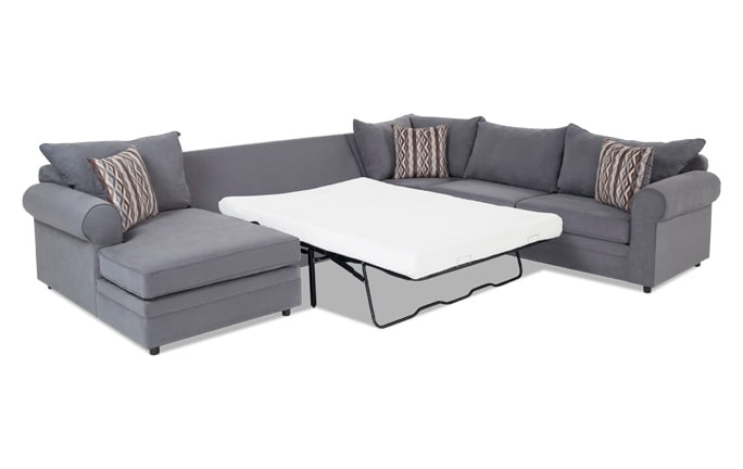 Venus 4 Piece Right Arm Facing Bob-O-Pedic Gel Full Sleeper Sectional