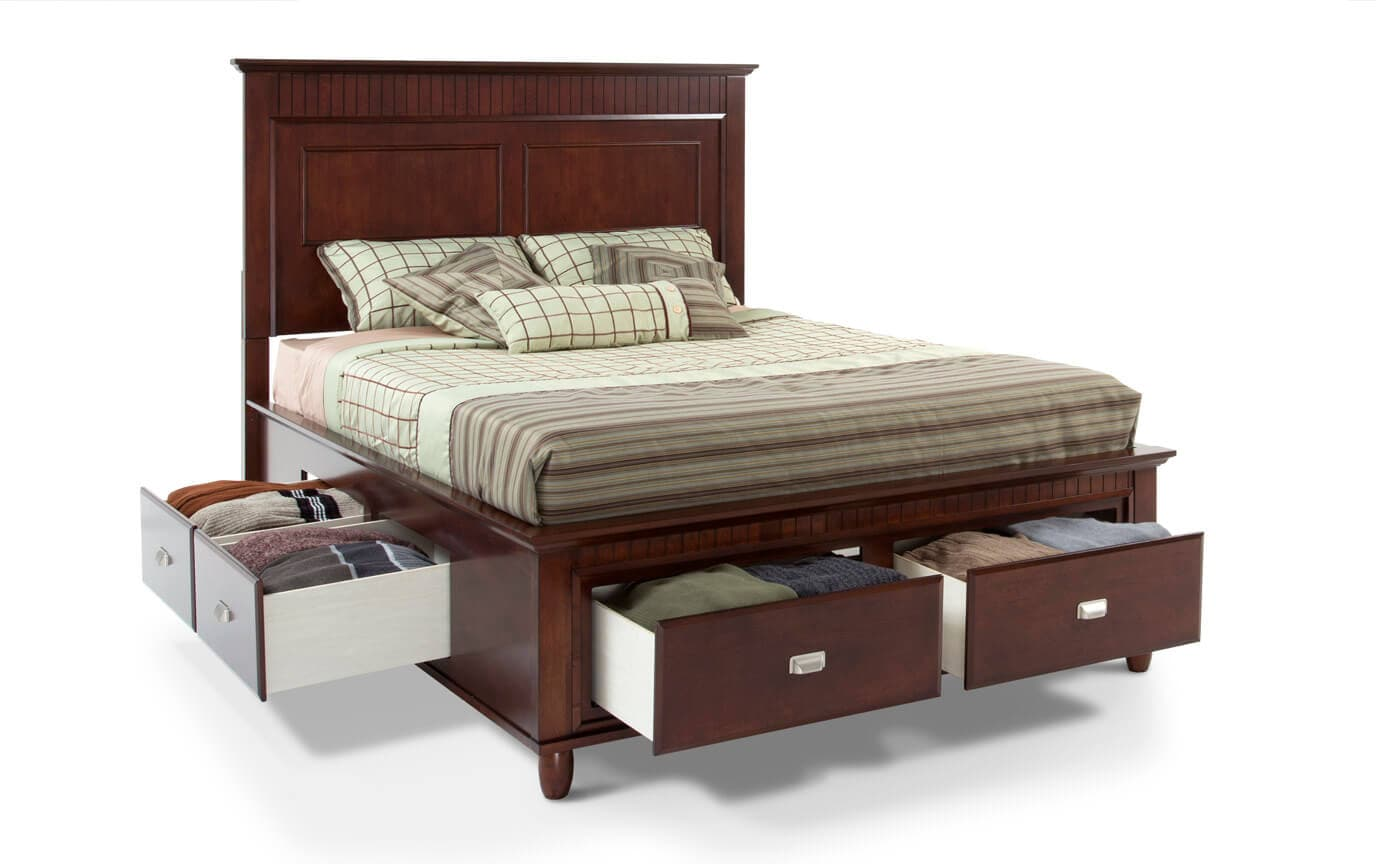 Spencer Full Cherry Storage Bed