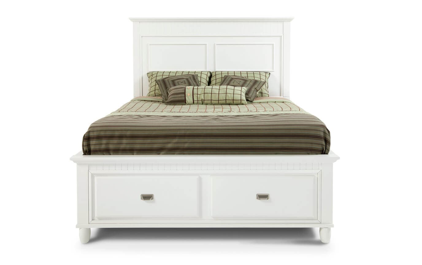 Spencer Queen White Storage Bed