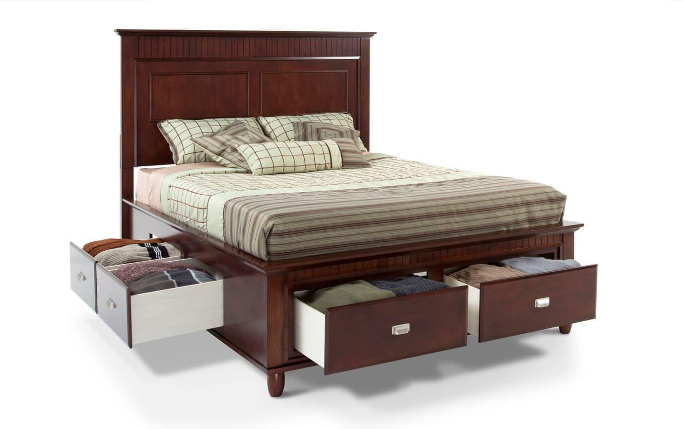 Spencer Storage King Cherry Bedroom Set
