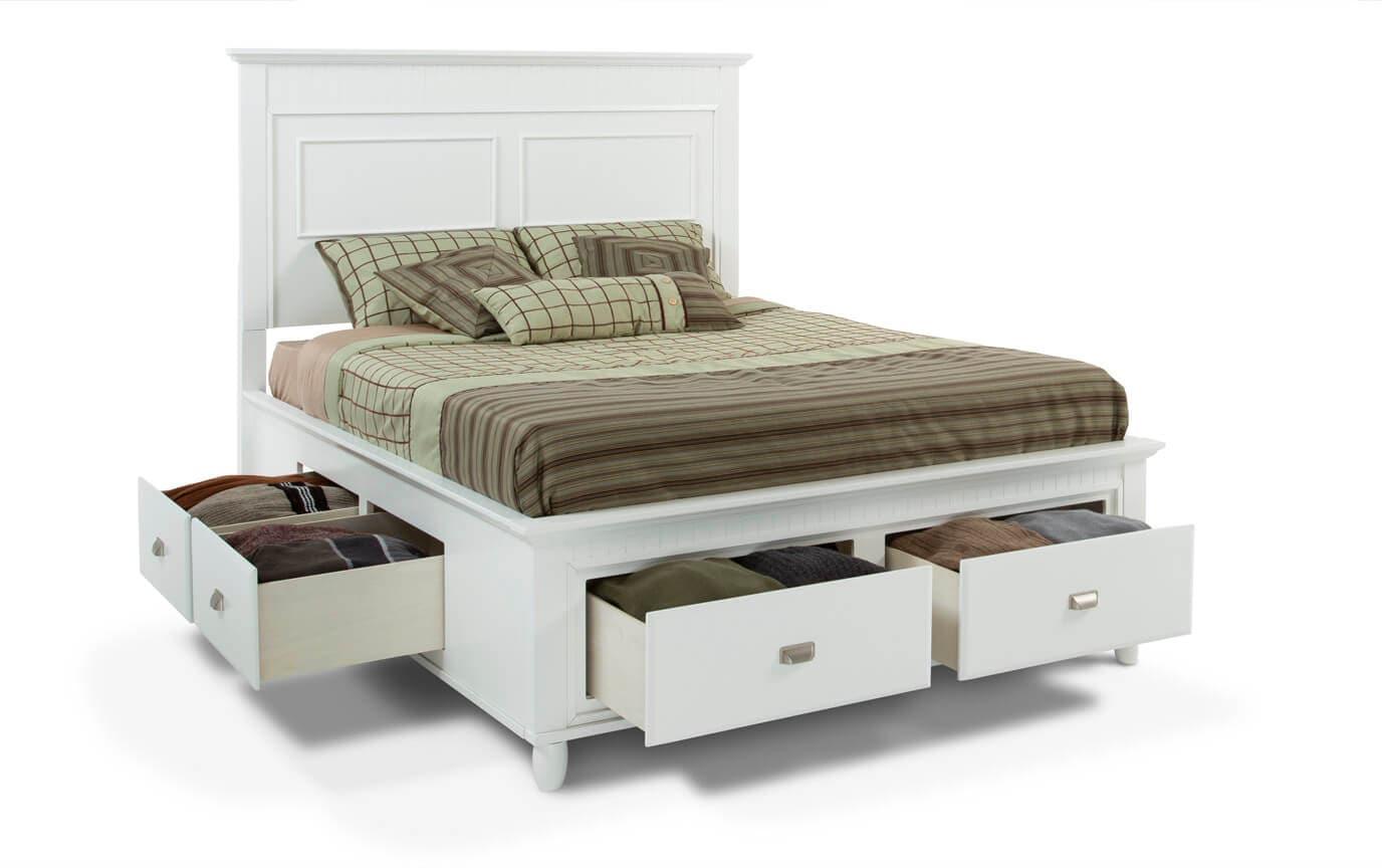 Spencer King White Storage Bed