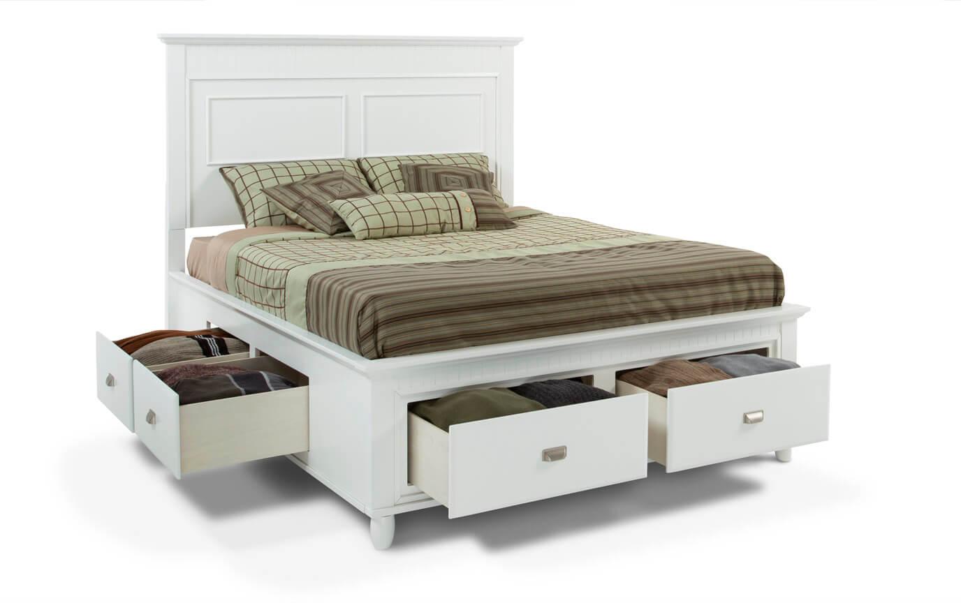 Spencer Storage Queen White Bedroom Set