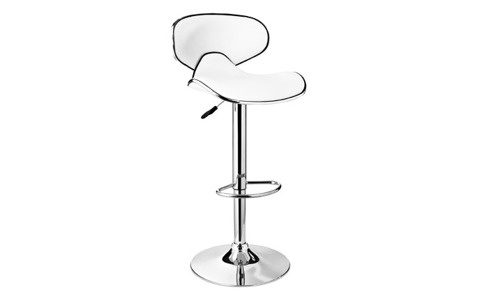 White & Chrome Bar Stool