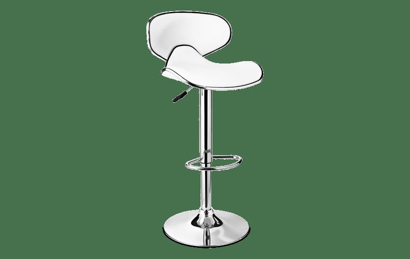 White & Chrome Bar Stool