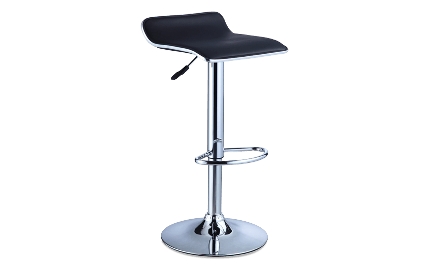 Black Backless Bar Stool