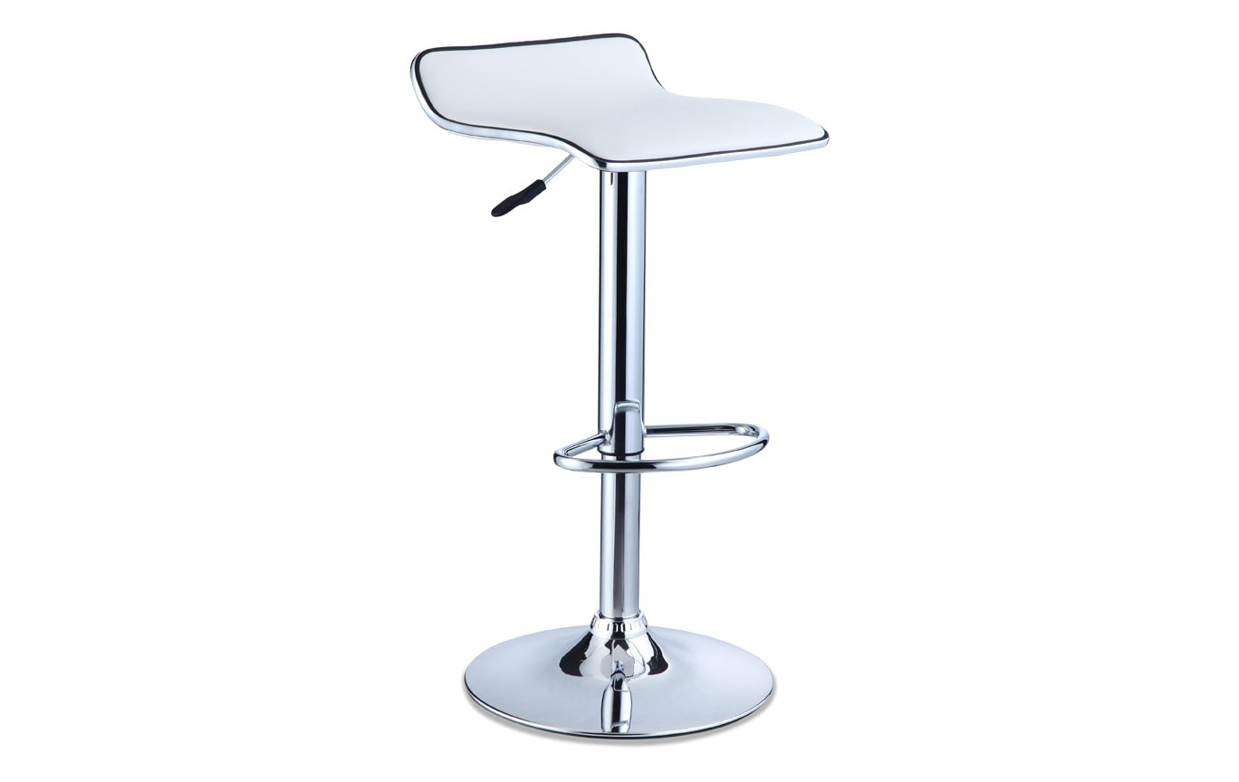 White Backless Bar Stool