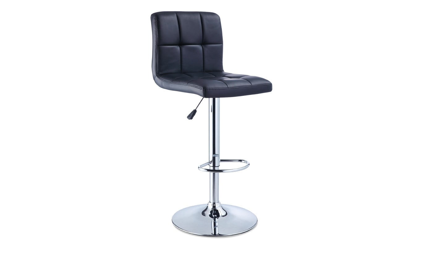 Black Quilted Bar Stool