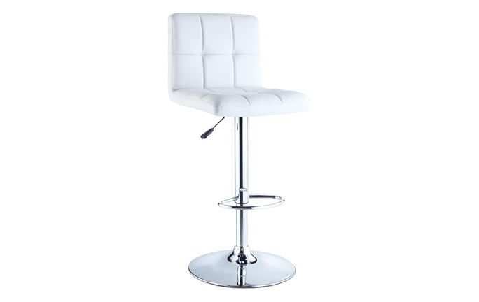 White Quilted Bar Stool