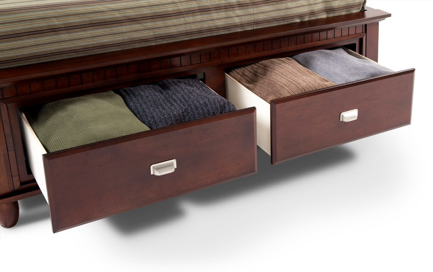 Spencer Storage Full Cherry Bedroom Set