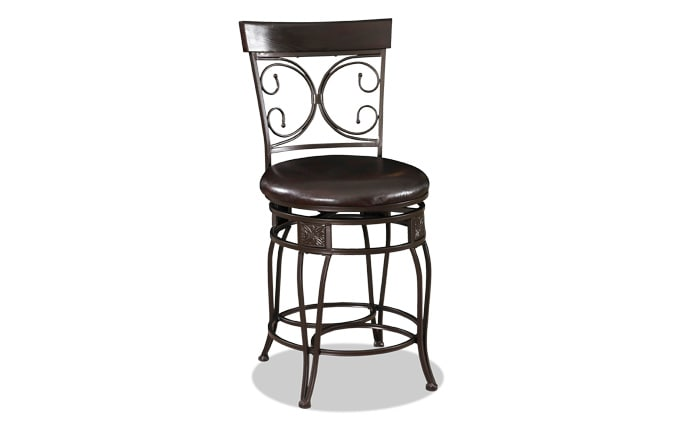 Big & Tall Bronze Scroll Counter Stool