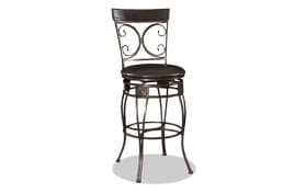 Big & Tall Bronze Scroll Bar Stool