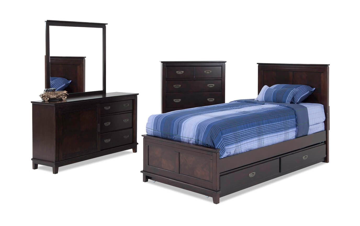 Chadwick Panel Bedroom Set With Trundle | Bobs.com