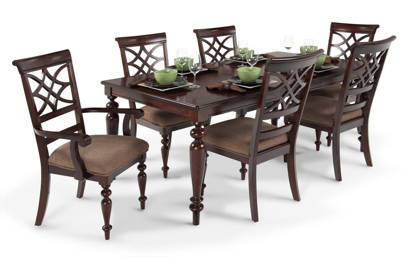 Woodmark 7 Piece Dining Set | Bob\'s Discount Furniture
