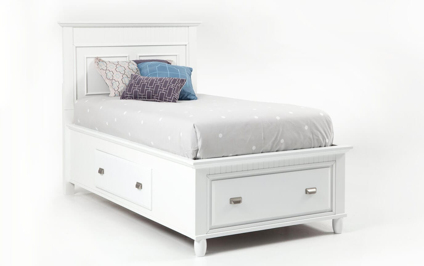 White Storage Bed In Gallery Slider Image Spencer Storage Bed Bobs Discount Furniture