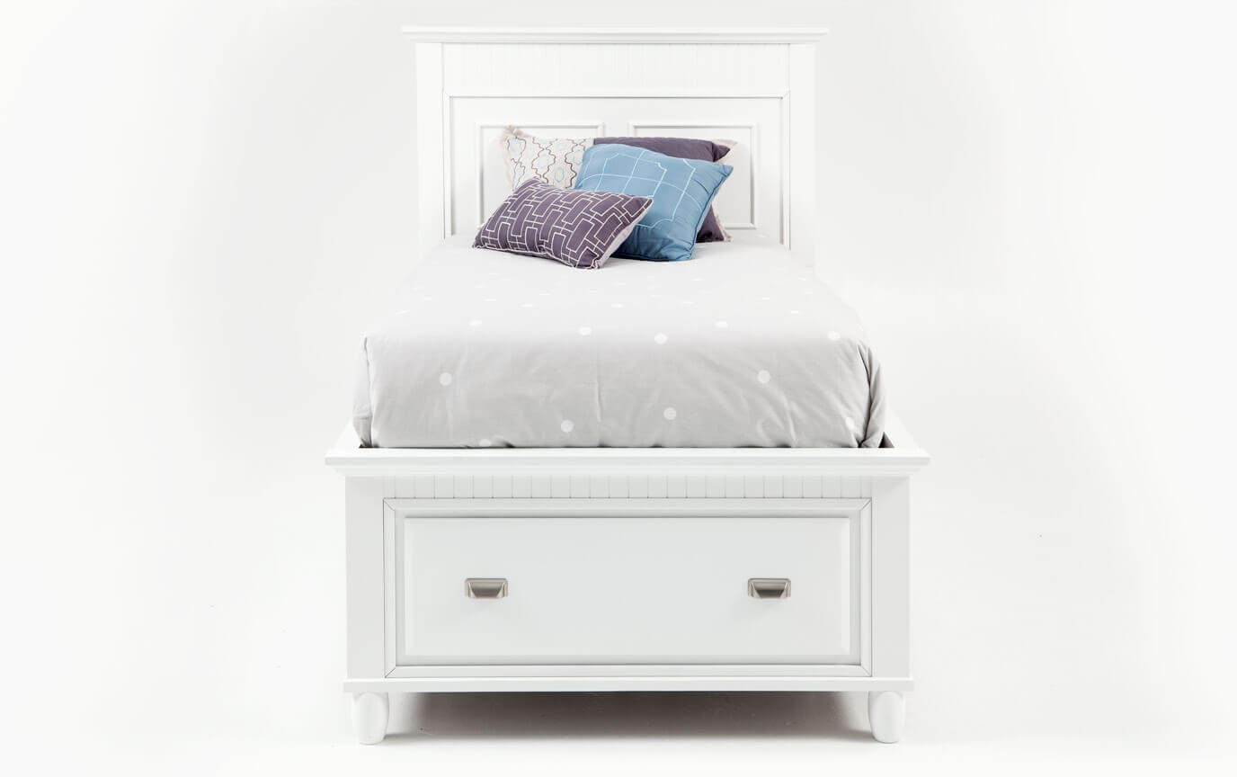 Spencer Twin White Storage Bed