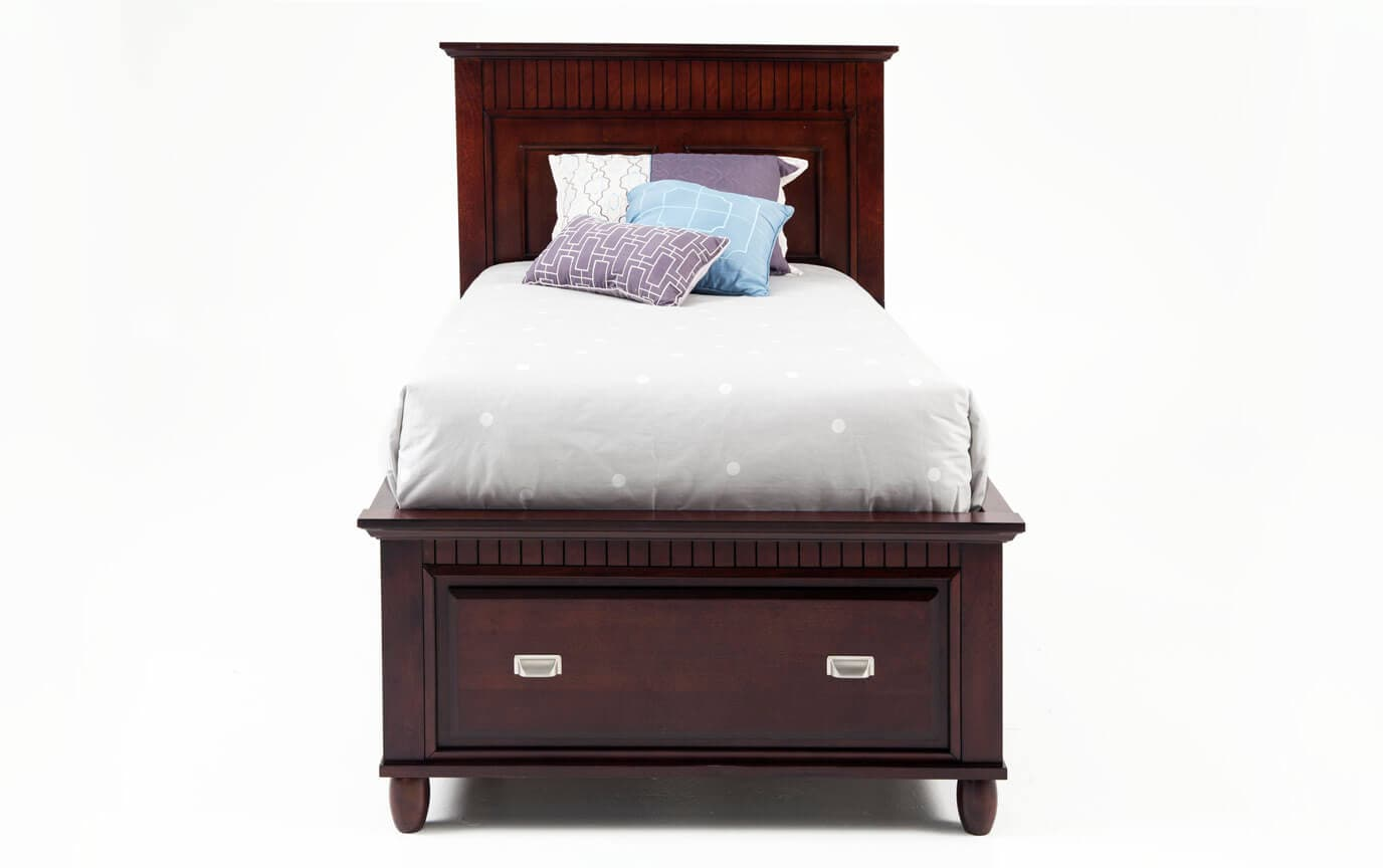 Spencer Twin Cherry Storage Bed