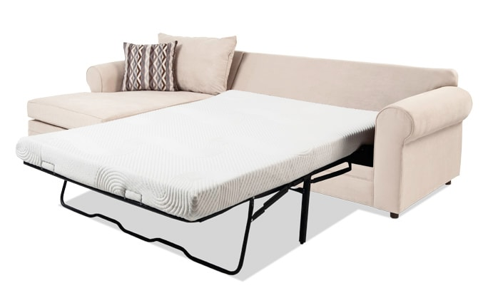 Venus 2 Piece Right Arm Facing Bob-O-Pedic Gel Full Sleeper Sectional