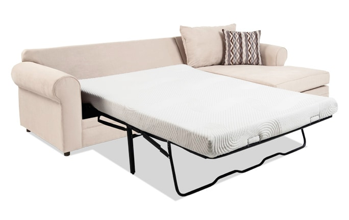 Venus 2 Piece Left Arm Facing Bob-O-Pedic Gel Full Sleeper Sectional
