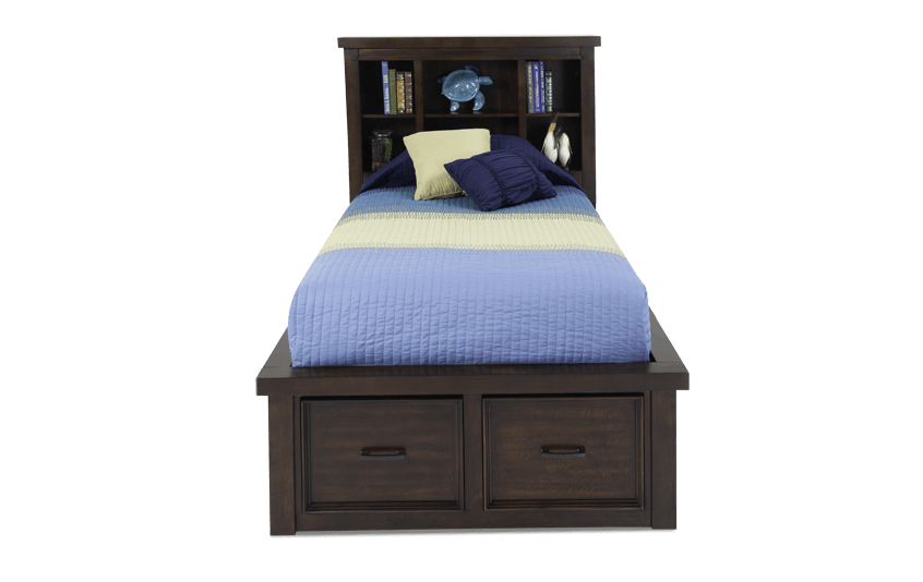 Hudson Youth Storage Bookcase Bed