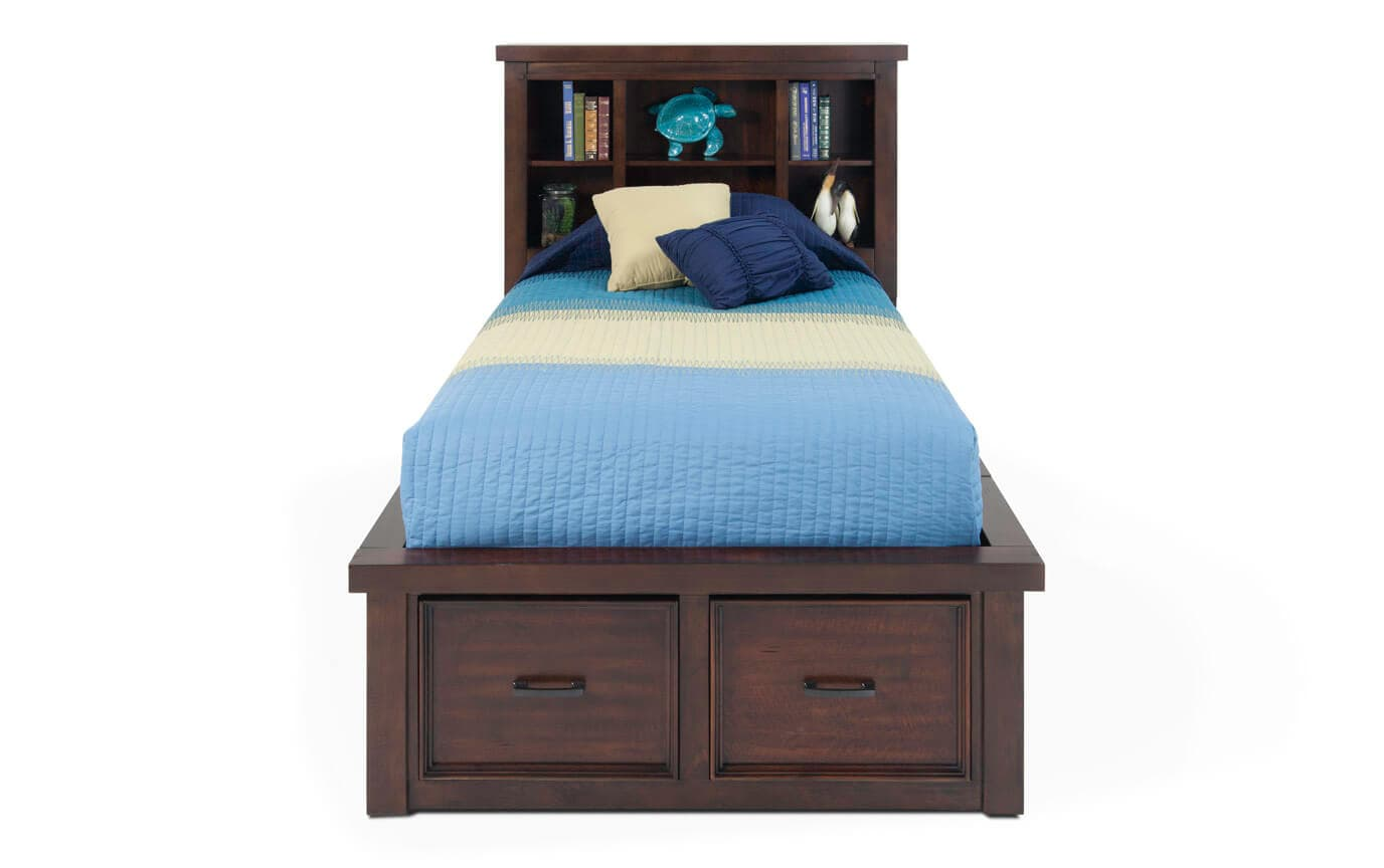 Hudson Youth Twin Storage Bookcase Bed