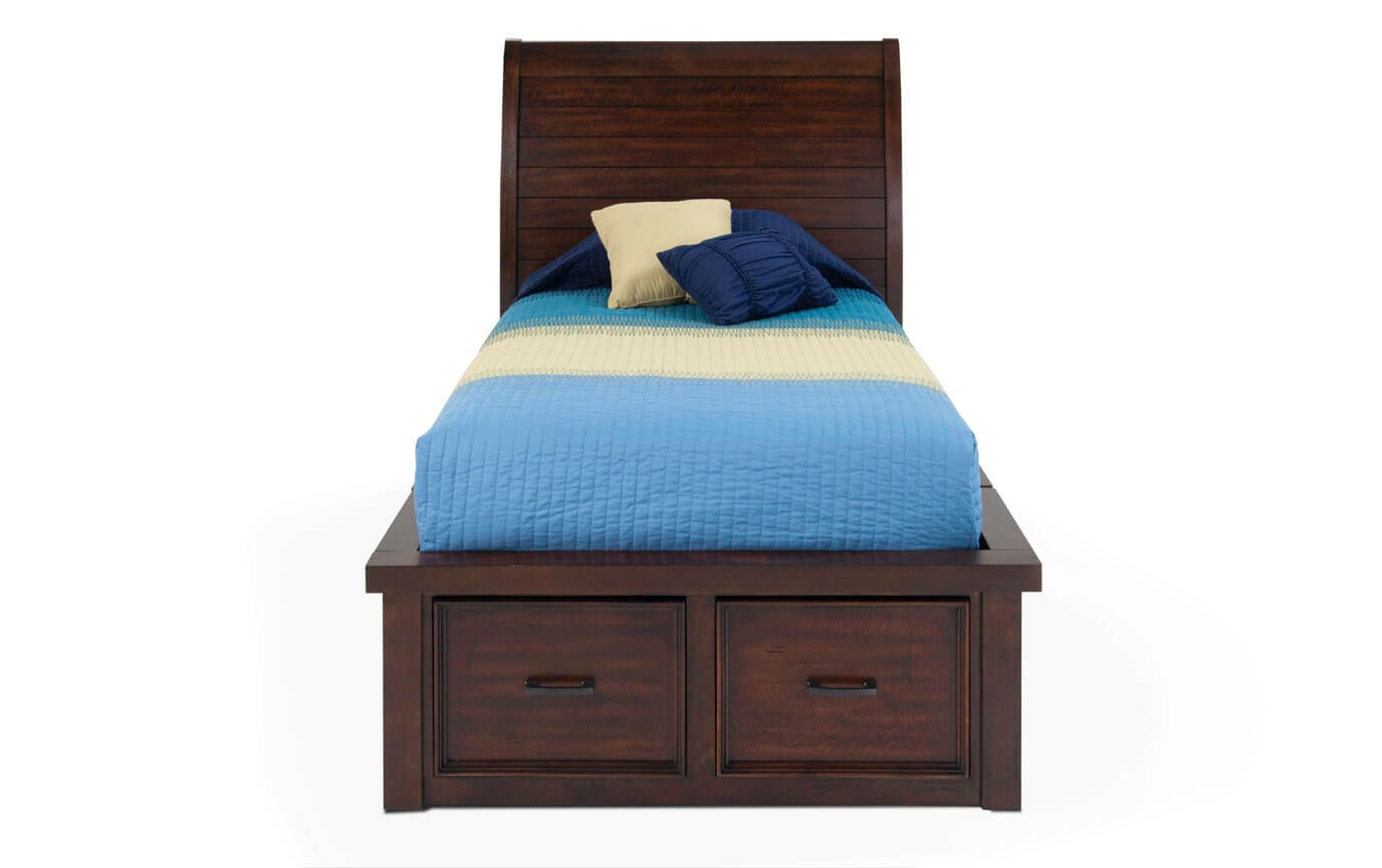 Hudson Youth Twin Sleigh Storage Bed