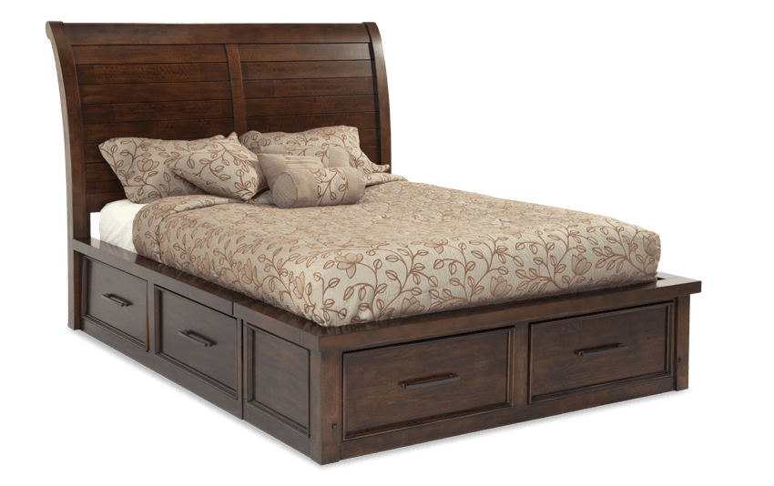 Hudson Youth Full Sleigh Storage Bed