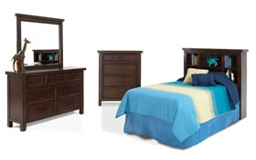 Hudson Youth Twin Bookcase Bedroom Set