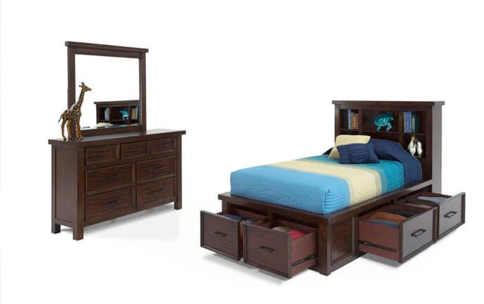 Chadwick Bookcase Bedroom Set With Trundle | Bob\'s Discount Furniture
