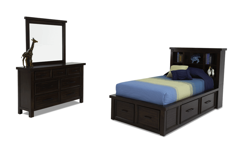 Hudson Youth Twin Bookcase Bedroom Set Bobs Com