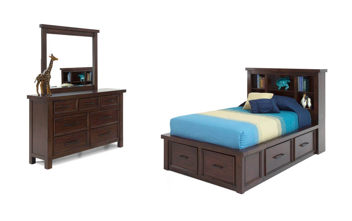 Hudson Youth Full Bookcase Bedroom Set