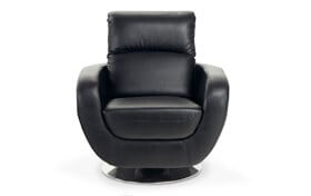 Luna Black Swivel Chair