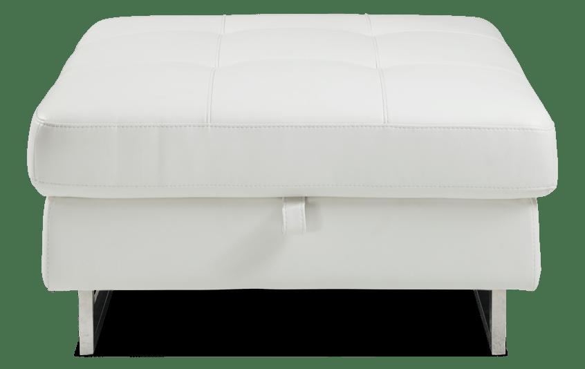 Luna White Storage Ottoman