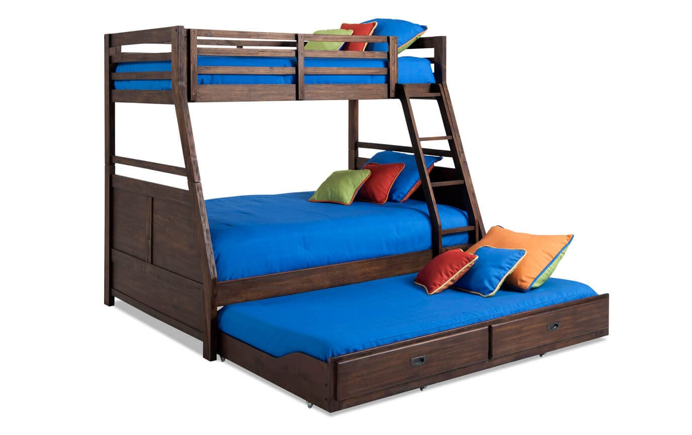 Chadwick Twin Full Bunk Bed With Trundle Bob S Discount Furniture