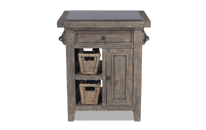 Small Granite Top Island With Baskets