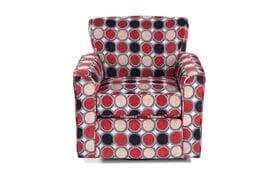 Mercury Compass Scarlet Swivel Glider Chair