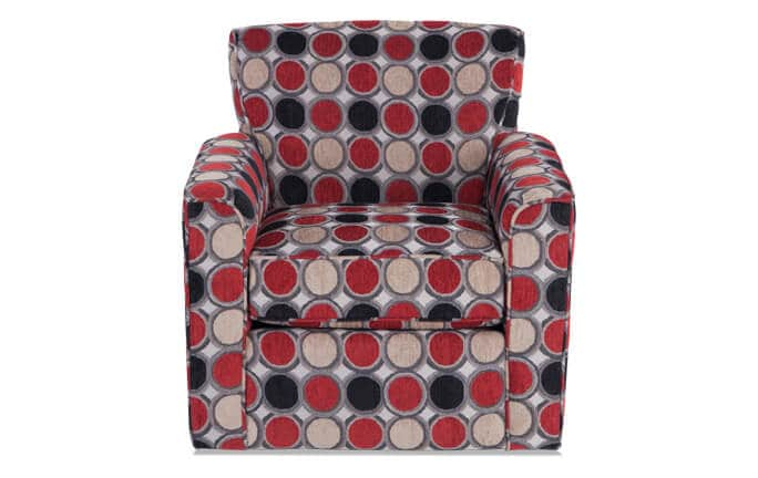 Mercury Compass Scarlet Swivel Glider Chair
