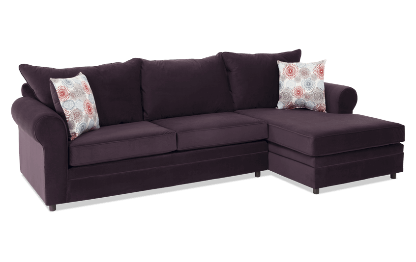 Emma Plum Firework Left Arm Facing Sectional