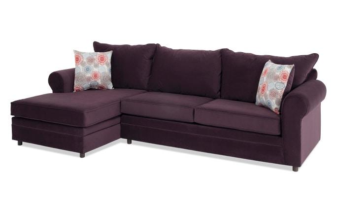 Emma Plum Firework Right Arm Facing Sectional
