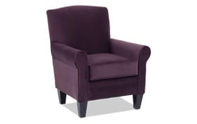 Tory Plum Accent Chair