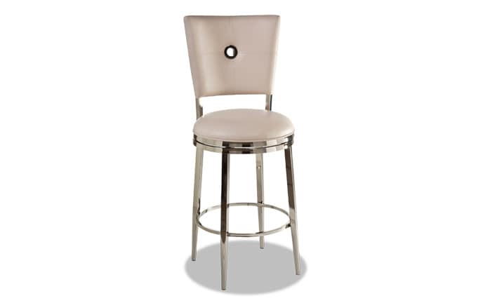 Gunther White Swivel Bar Stool