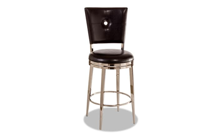 Gunther Black Swivel Bar Stool