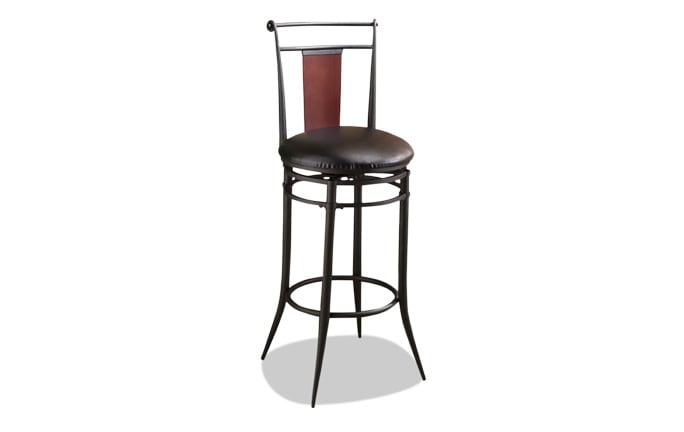Benson Wood Back Swivel Counter Stool